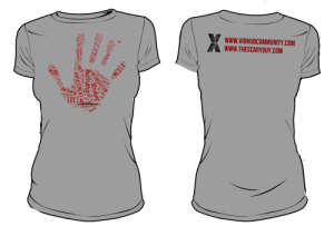 HIBhub Handprint Tee – Grey
