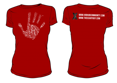 HIBhub Handprint Tee – Red