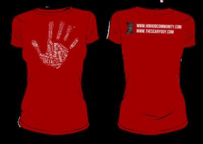 HIBhub Handprint Tee – Red