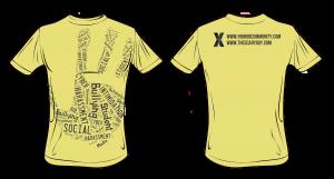 Body Handprint Tee – Yellow / Grey